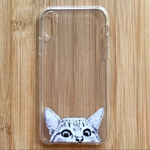 Accessories - NEW Iphone X Clear Cat Kitten Case